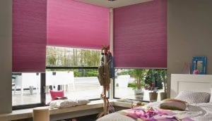 Children's bedroom with Duette energy saving blinds for heat reduction
