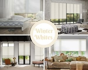 Winter white interiors with Duette blinds in neutral shades