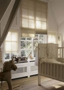 Child's nursery fitted with Duette blinds
